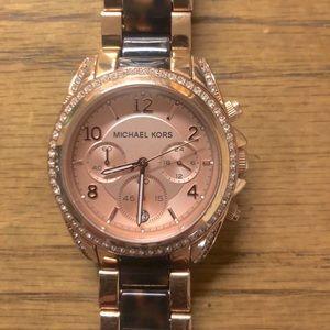 Michael Kors Blair rose gold chronograph watch